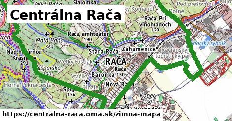 ikona Centrálna Rača: 10,4km trás zimna-mapa  centralna-raca