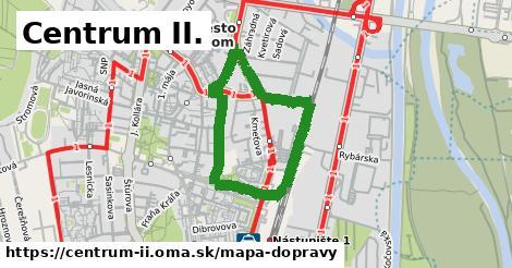 ikona Centrum II.: 3,9km trás mapa-dopravy  centrum-ii