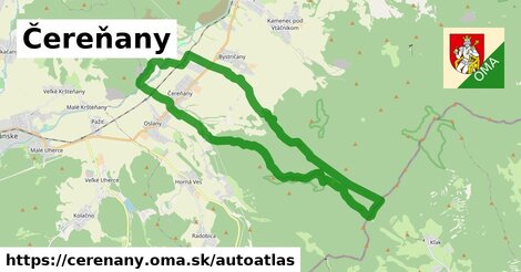 ikona Mapa autoatlas  cerenany