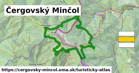 ikona Turistická mapa turisticky-atlas  cergovsky-mincol