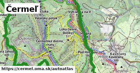 ikona Mapa autoatlas  cermel