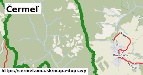 ikona Čermeľ: 1,25km trás mapa-dopravy  cermel