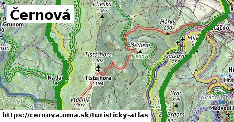 ikona Turistická mapa turisticky-atlas  cernova