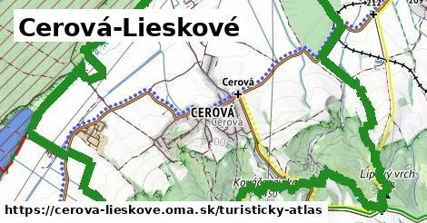 ikona Turistická mapa turisticky-atlas  cerova-lieskove