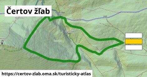 ikona Turistická mapa turisticky-atlas  certov-zlab