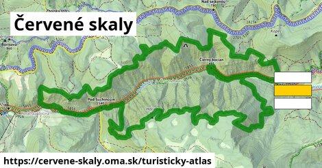 ikona Turistická mapa turisticky-atlas  cervene-skaly