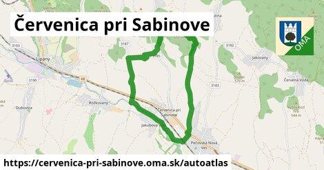 ikona Mapa autoatlas  cervenica-pri-sabinove