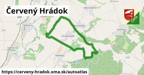 ikona Mapa autoatlas  cerveny-hradok