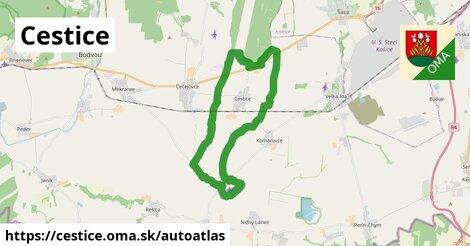 ikona Mapa autoatlas  cestice