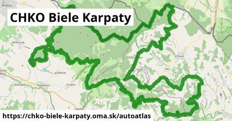 ikona Mapa autoatlas  chko-biele-karpaty