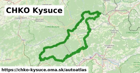 ikona Mapa autoatlas  chko-kysuce