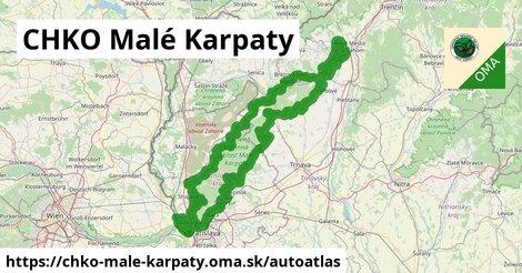 ikona Mapa autoatlas  chko-male-karpaty