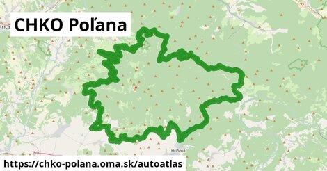 ikona Mapa autoatlas v chko-polana