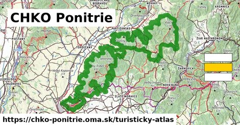 ikona Turistická mapa turisticky-atlas  chko-ponitrie