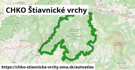 ikona Mapa autoatlas  chko-stiavnicke-vrchy