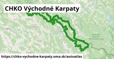 ikona Mapa autoatlas  chko-vychodne-karpaty