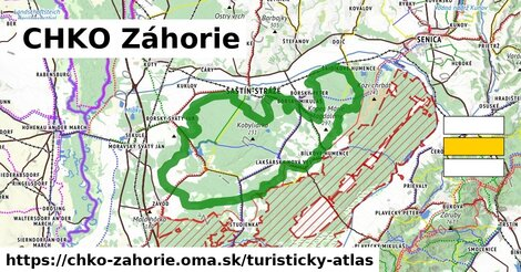 ikona Turistická mapa turisticky-atlas  chko-zahorie