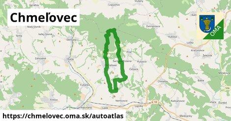 ikona Mapa autoatlas  chmelovec