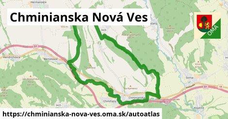 ikona Mapa autoatlas  chminianska-nova-ves