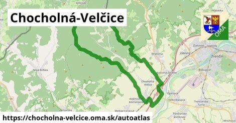 ikona Mapa autoatlas  chocholna-velcice