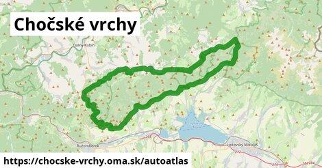 ikona Mapa autoatlas  chocske-vrchy