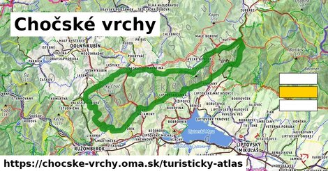 ikona Turistická mapa turisticky-atlas  chocske-vrchy