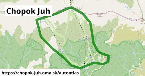 ikona Mapa autoatlas  chopok-juh