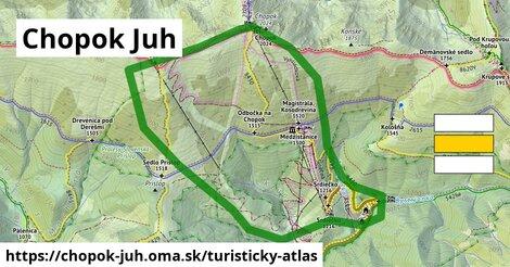 ikona Turistická mapa turisticky-atlas  chopok-juh