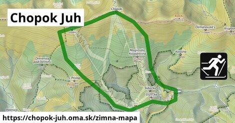 ikona Zimná mapa zimna-mapa  chopok-juh