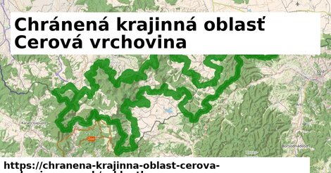 ikona Chránená krajinná oblasť Cerová vrchovina: 145m trás cykloatlas  chranena-krajinna-oblast-cerova-vrchovina