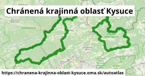 ikona Mapa autoatlas  chranena-krajinna-oblast-kysuce