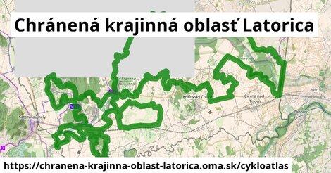 ikona Cykloatlas cykloatlas  chranena-krajinna-oblast-latorica