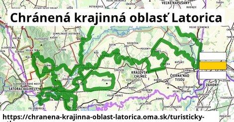 ikona Chránená krajinná oblasť Latorica: 6,8km trás turisticky-atlas  chranena-krajinna-oblast-latorica