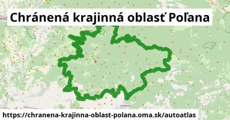 ikona Mapa autoatlas  chranena-krajinna-oblast-polana