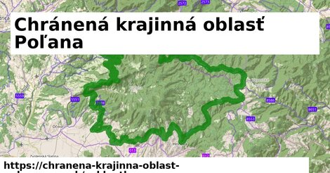 ikona Chránená krajinná oblasť Poľana: 53km trás cykloatlas  chranena-krajinna-oblast-polana