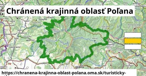 ikona Chránená krajinná oblasť Poľana: 117km trás turisticky-atlas  chranena-krajinna-oblast-polana