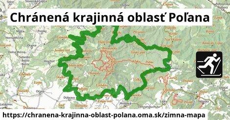 ikona Chránená krajinná oblasť Poľana: 55km trás zimna-mapa  chranena-krajinna-oblast-polana