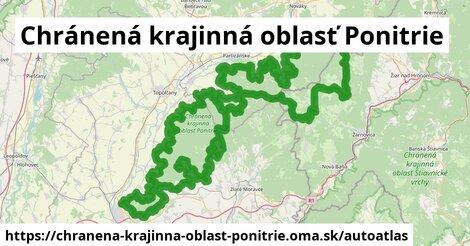 ikona Mapa autoatlas  chranena-krajinna-oblast-ponitrie