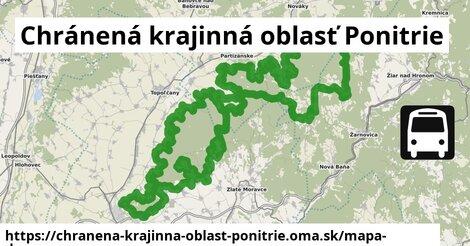 ikona Chránená krajinná oblasť Ponitrie: 4,7km trás mapa-dopravy  chranena-krajinna-oblast-ponitrie