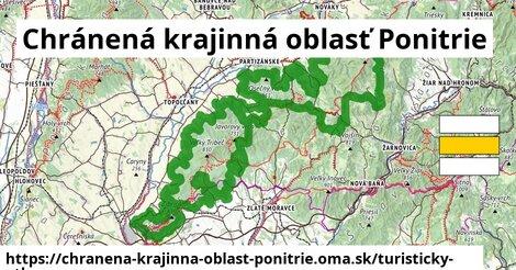 ikona Chránená krajinná oblasť Ponitrie: 243km trás turisticky-atlas  chranena-krajinna-oblast-ponitrie