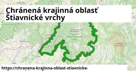 ikona Mapa autoatlas  chranena-krajinna-oblast-stiavnicke-vrchy