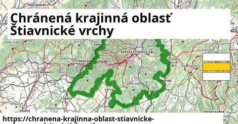 ikona Chránená krajinná oblasť Štiavnické vrchy: 433m trás turisticky-atlas  chranena-krajinna-oblast-stiavnicke-vrchy