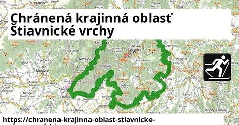 ikona Chránená krajinná oblasť Štiavnické vrchy: 43km trás zimna-mapa  chranena-krajinna-oblast-stiavnicke-vrchy