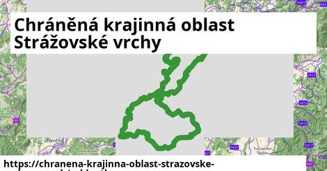 ikona Chráněná krajinná oblast Strážovské vrchy: 95km trás cykloatlas  chranena-krajinna-oblast-strazovske-vrchy