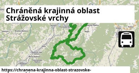 ikona Chráněná krajinná oblast Strážovské vrchy: 2,6km trás mapa-dopravy  chranena-krajinna-oblast-strazovske-vrchy