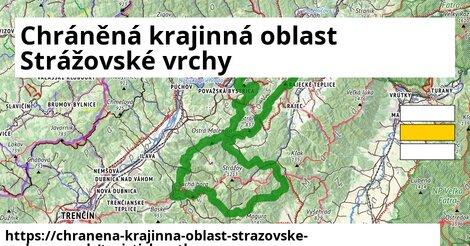 ikona Chráněná krajinná oblast Strážovské vrchy: 298km trás turisticky-atlas  chranena-krajinna-oblast-strazovske-vrchy