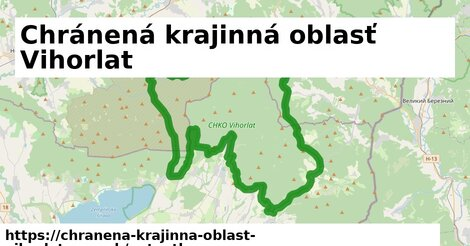 ikona Mapa autoatlas  chranena-krajinna-oblast-vihorlat