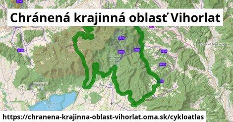 ikona Chránená krajinná oblasť Vihorlat: 47km trás cykloatlas  chranena-krajinna-oblast-vihorlat