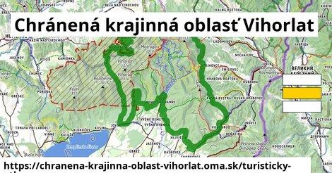 ikona Chránená krajinná oblasť Vihorlat: 120km trás turisticky-atlas  chranena-krajinna-oblast-vihorlat