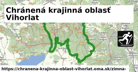 ikona Chránená krajinná oblasť Vihorlat: 22km trás zimna-mapa  chranena-krajinna-oblast-vihorlat